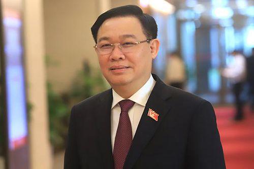 Hình ảnh: Bí thư Thành ủy Hà Nội Vương Đình Huệ được giới thiệu để bầu Chủ tịch Quốc hội số 1