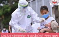 Sáng 20/6 Việt Nam ghi nhận 78 ca mắc mới COVID - 19 trong đó TP.HCM có 46 ca