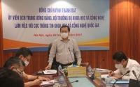 Bộ trưởng Bộ Khoa học và Công nghệ Huỳnh Thành Đạt làm việc với lãnh đạo chủ chốt của Viện Đánh giá khoa học và Định giá công nghệ